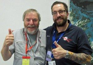 Paul Sutherland with Matt Taylor