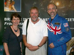 Paul Sutherland with Helen Sharman and Richard Garriott